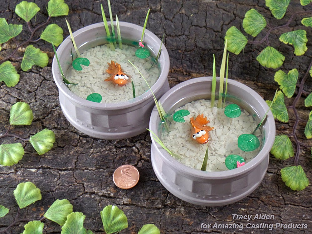 Amazing casting products sweet treats lead to cre8time for Miniature fish pond