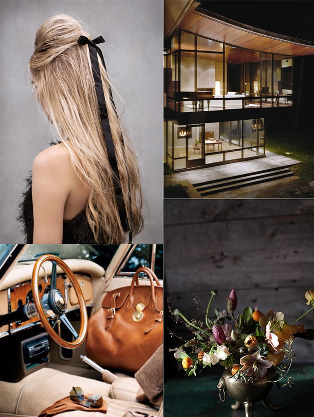 Old fashioned luxury inspiration board