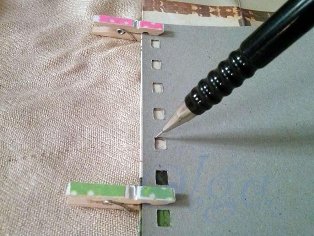 decorar libreta de espiral muelle alambre con bolsa de papel carton