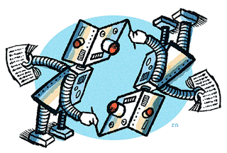 robot racconta robot