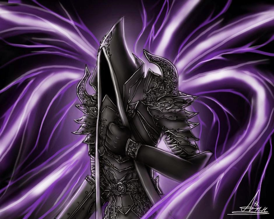 malthael with purple wings