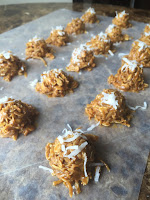 Healthy No Bake Cookie Recipe with peanut butter, cocoa, coconut and oatmeal