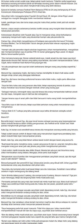 Festival Filem Malaysia 24 | Johan Kurang Ajar