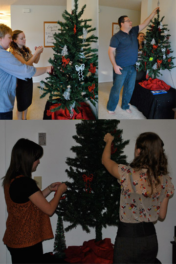 Flashback Summer:  Thanksgiving Festivities!- Decorating the Christmas Tree