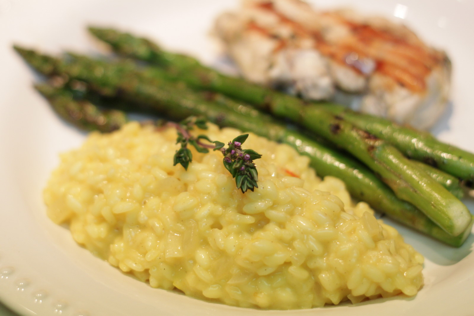 Wholesome Dinner Tonight: Saffron Risotto with Garlic ...