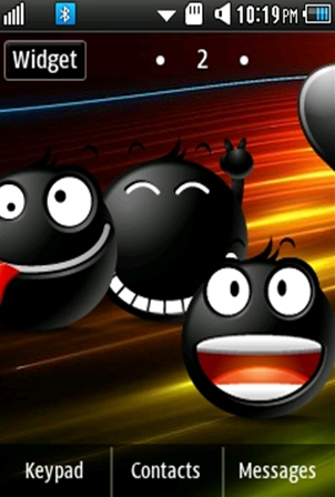 Other Cute, Black Smiley Samsung Corby 2 Theme Wallpaper