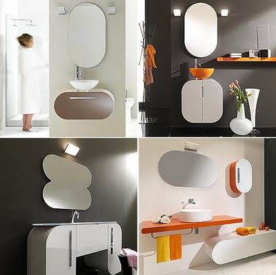 Simple Rounded Bathroom Furniture