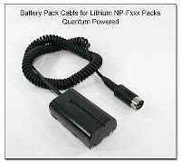 PJ1101: Battery Pack Dummy Cable for Lithium NP-Fxxx Packs Powered by Quantum Turbo