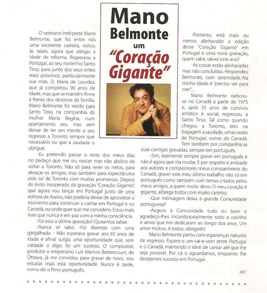 Mano Belmonte - 'CORAÇÃO GIGANTE'