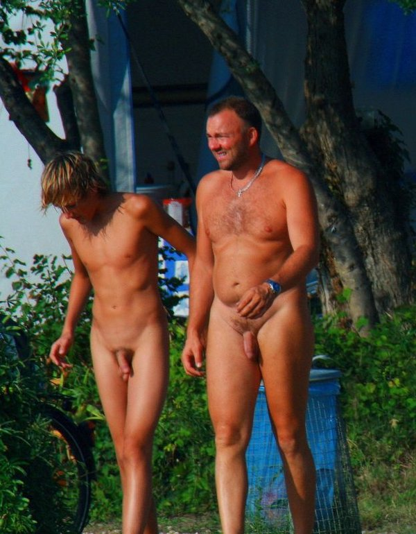 son nude and Dad