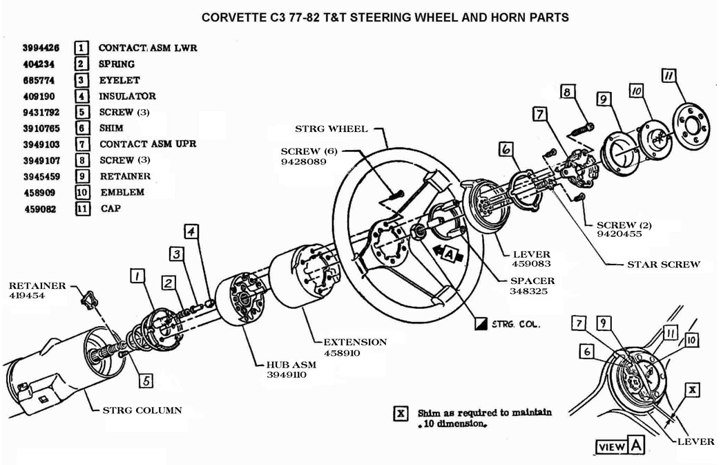 C3%2B77 82%2Btilt tele%2Bsteering%2Bwheel%2Band%2Bhorn%2Bparts my 1976 corvette stingray restore, restomod, drive and enjoy chevy vega wiring diagram at fashall.co