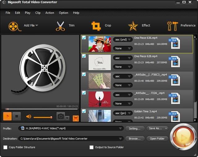 Conversor de video Total video converter