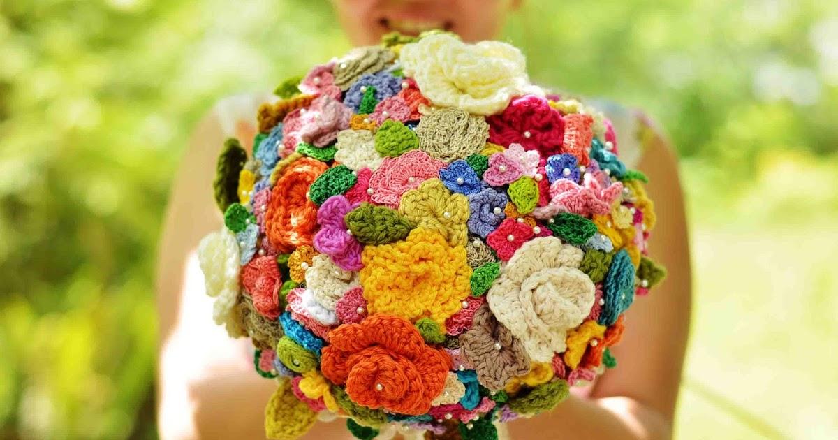 Maize Hutton The Crocheted Flower Wedding Bouquet