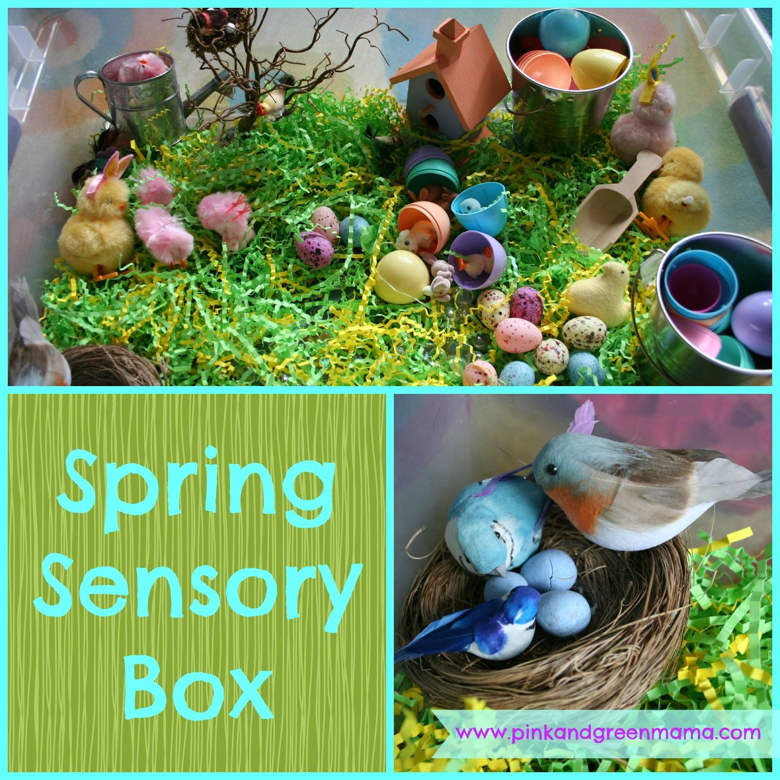Pink And Green Mama Preschool At Home Spring Sensory Box