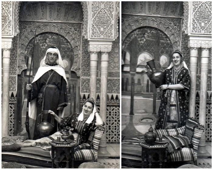 Collage I. En 1953 viajaron a España padre e hija,Luis  Aflonso Mejía Escobar y Arabia Mejía Ossa.