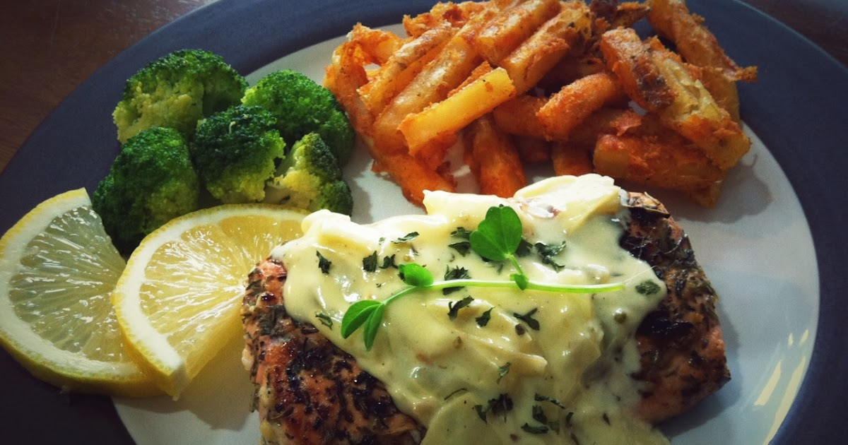 ... Recipe: Pan Fried Salmon With Herbs, Butter, and Lemon Sauce