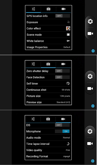 SKK Mobile Silver Camera and Video Settings