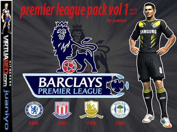 PES 2013 Pack Premier League 2012/13 Kits v1 by Juaniyo