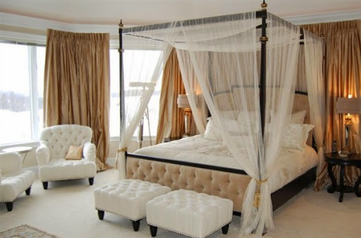 Model Tempat Tidur Kanopi Berkelambu untuk Kamar Tidur Utama dan Anak Terbaru