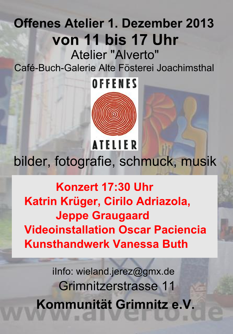 Offenes Atelier - Taller abierto