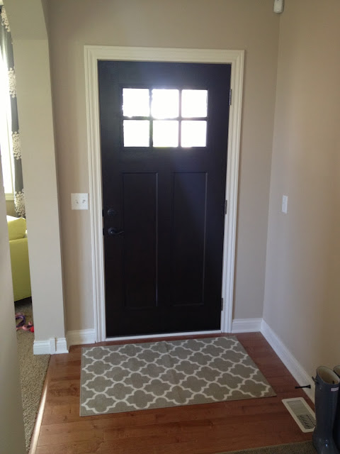 our styled suburban life new front door. Black Bedroom Furniture Sets. Home Design Ideas