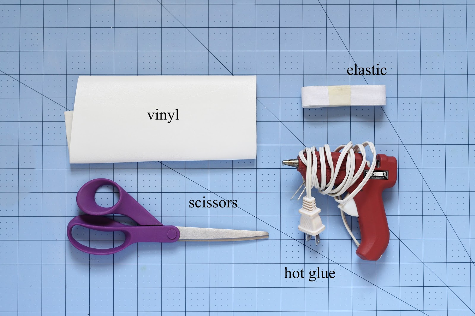 What you'll need to make a vinyl dog's bow tie