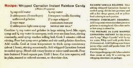 Dying for Chocolate: Whipped Instant Candy: French Chocolate Squares