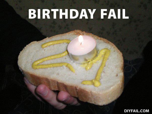 birthday fail cake