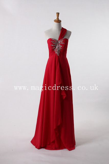 red one shoulder dresses