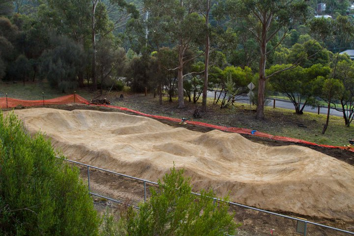 Backyard Pump Track Layout : trail designconsultancyconstruction Hobart gets a pump track
