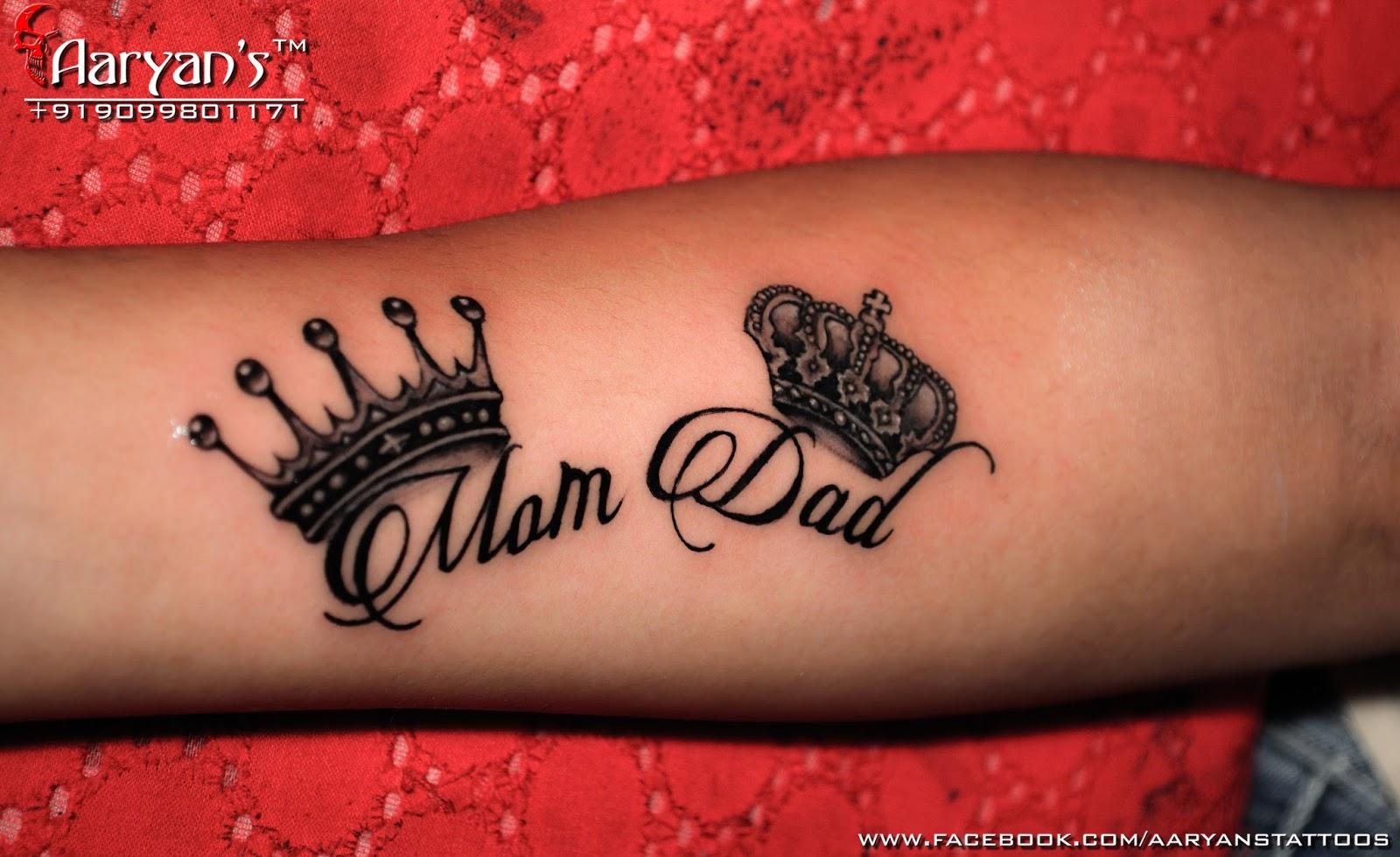 Mom Dad Tattoos Awesome Tattoos For Mom Dad By Aaryan Tattooist