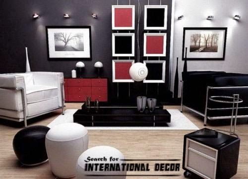 small Living room decorating ideas with black accent