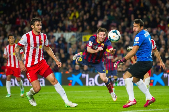 Hasil Barcelona vs Almeria Liga Spanyol Tadi Malam 9 April 2015
