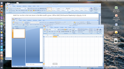 Microsoft Office 2007 on Linux (Ubuntu 12.10 and Fedora)