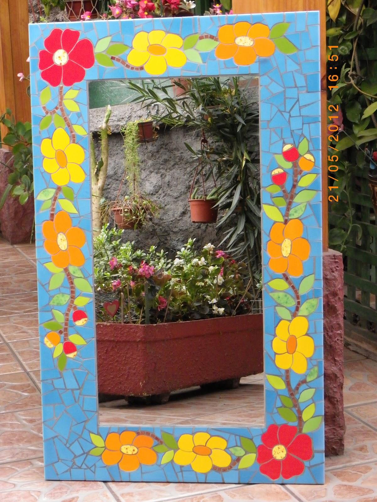 Espejos De Decoracion En Chile ~ MOSAICOS Y VITRALES Espejos mosaico grandes