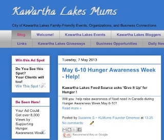 image Kawartha Lakes Mums blog screenshot blue and white