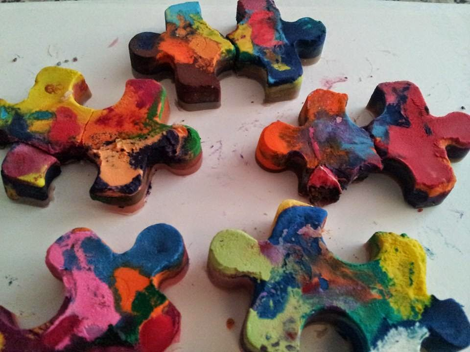 Homemade crayons, crafts, kids crafts