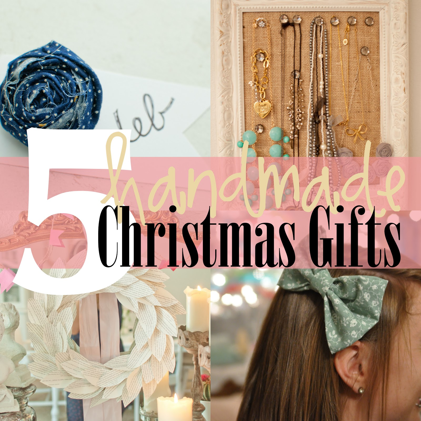Personalized Handmade Christmas Gift Guide: Domestic Fashionista: 5 Handmade Christmas Gifts