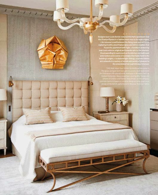bedroom decor gold origami sculpture