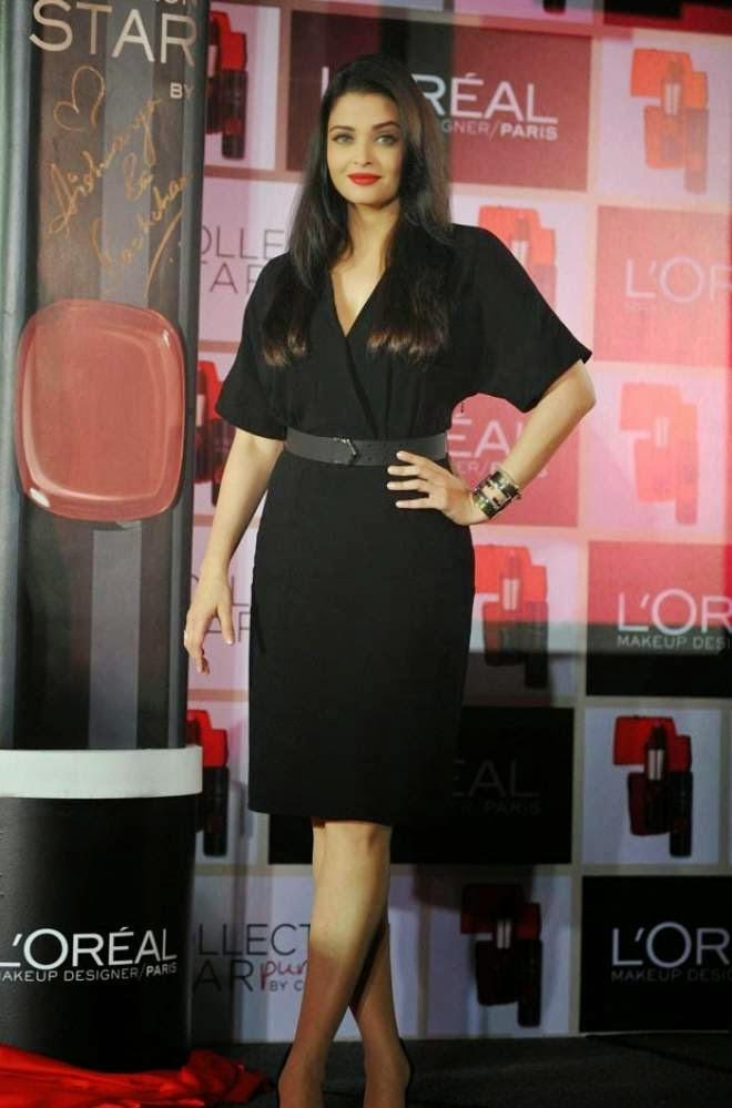 Aishwarya Rai Photos In Black Mini Dress