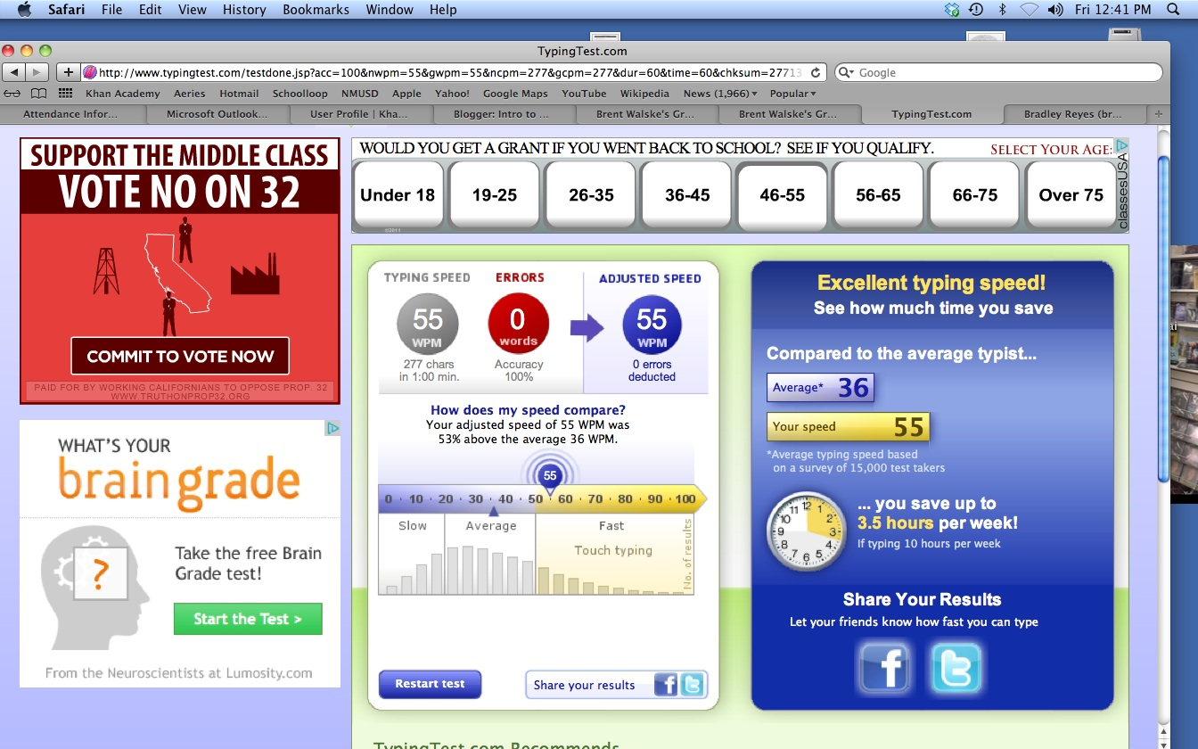 5 Minute Typing Test Wpm