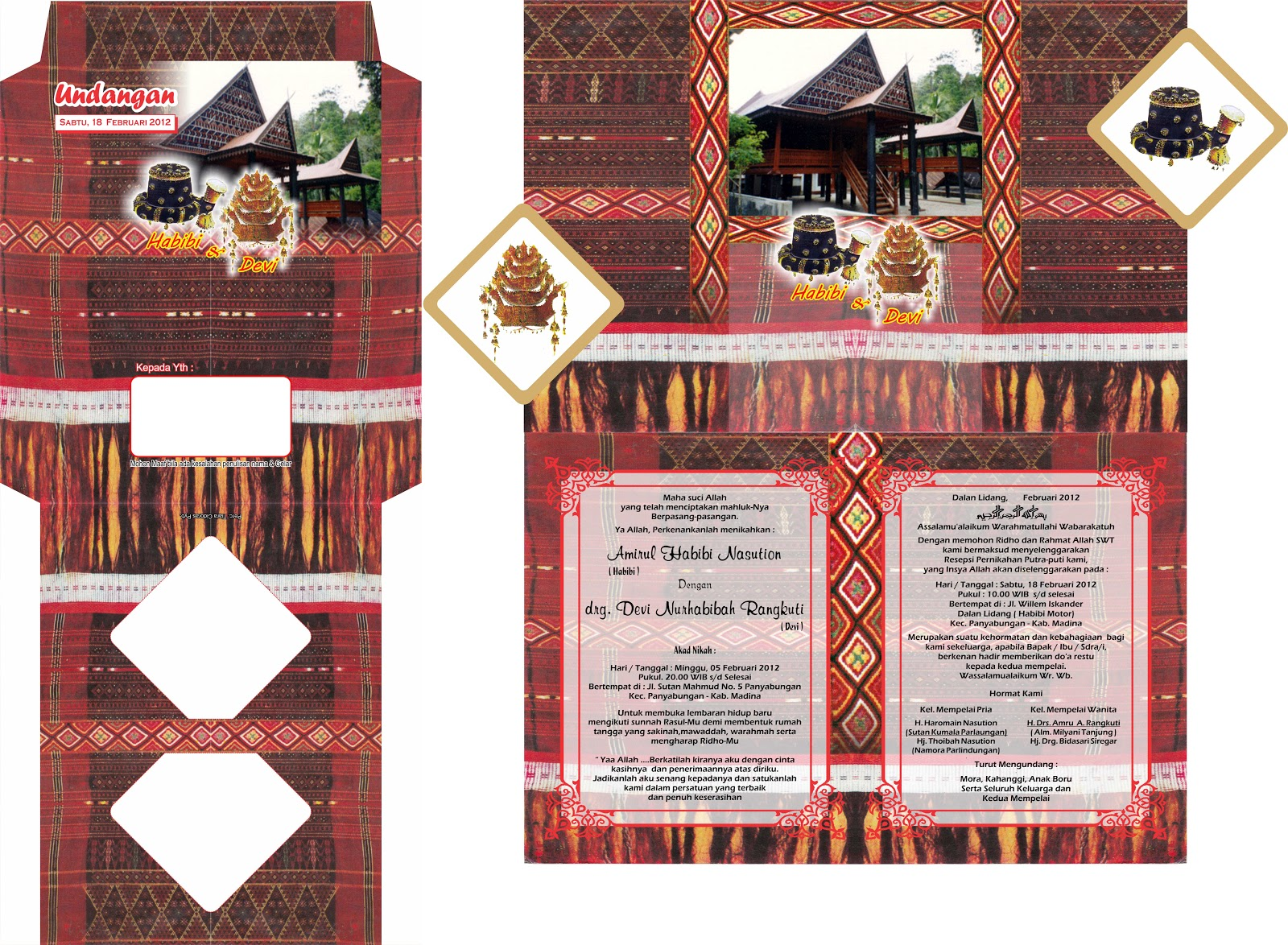 Format Corel Eri Undangan Pernikahan Sulawesi Selatan