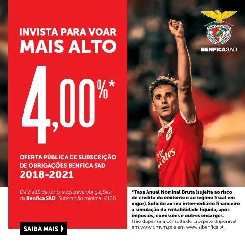 Obrigações Benfica SAD 2018-2021
