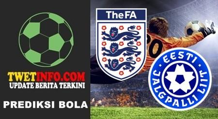 Prediksi England vs Estonia