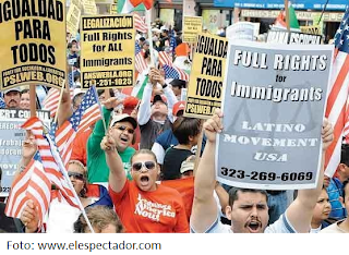 Manifestación a favor de la reforma migratoria en EE.UU.