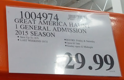 Deal for California's Great America Halloween Haunt General Admission Ticket at Costco