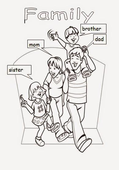 La Familia Para Colorear En Ingles  Bioinformatics RD