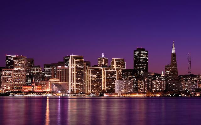 La Hermosa Ciudad de San Francisco California en la Noche