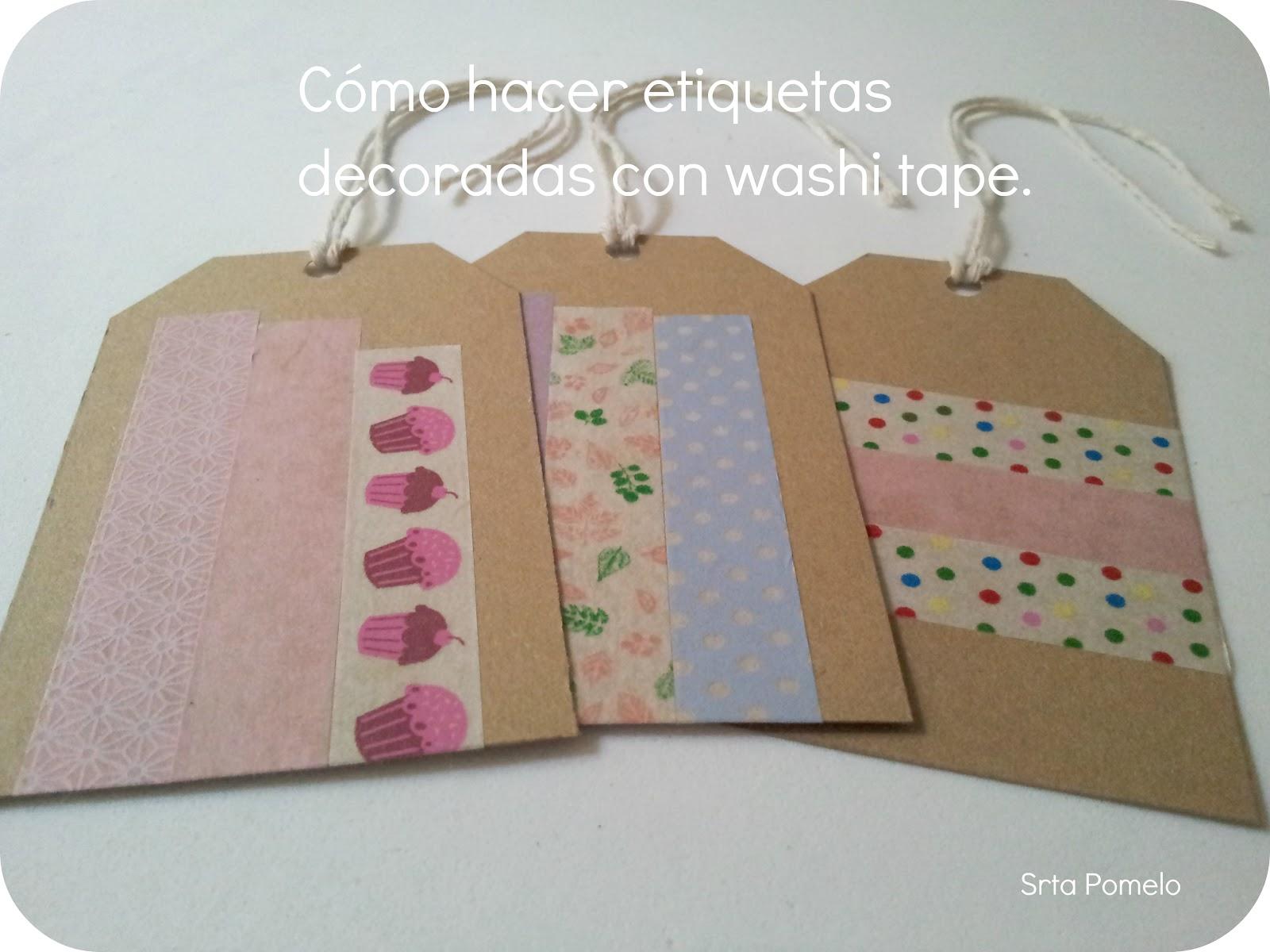 Srta pomelo tutorial c mo hacer etiquetas decoradas con - Como decorar con washi tape ...