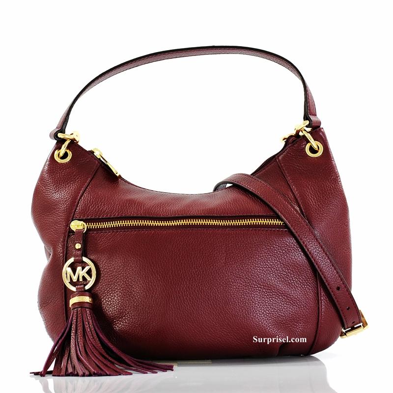 luxury branded bags up to 75 off mk 35t2gtsl2l charm tassel hobo bag. Black Bedroom Furniture Sets. Home Design Ideas
